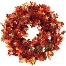 FALL FOLIAGE TINSEL LEAF WREATH Thumbnail