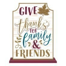 GIVE THANKS LARGE STANDING SIGN Thumbnail