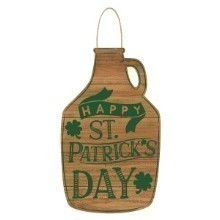 ST. PATRICK'S DAY GROWLER SHAPED WOODEN SIGN Thumbnail
