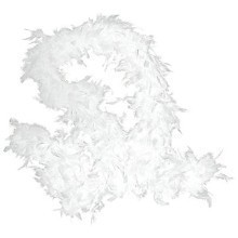 6FT WHITE FEATHER BOA Thumbnail