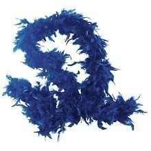 6FT ROYAL BLUE FEATHER BOA Thumbnail