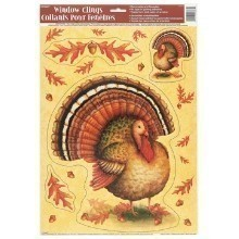 FESTIVE TURKEY WINDOW CLINGS  Thumbnail
