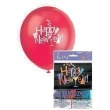 New Year's Countdown Latex Balloons - 8 Count Thumbnail