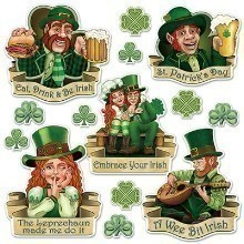 ST. PATRICK'S DAY IRISH CUTOUT ASSORTMENT Thumbnail