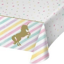 UNICORN SPARKLE PLASTIC TABLECOVER Thumbnail