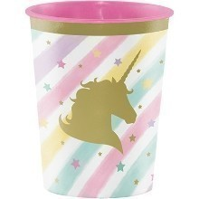 UNICORN SPARKLE 16OZ PLASTIC PARTY CUP Thumbnail