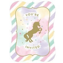 UNICORN SPARKLE INVITATIONS Thumbnail