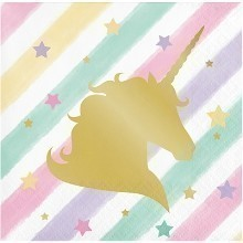 UNICORN SPARKLE BEVERAGE NAPKINS Thumbnail