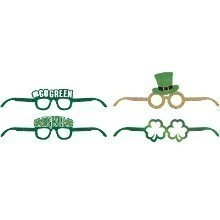 ST. PATRICK'S DAY GLITTER/FOIL FAVOR GLASSES Thumbnail