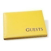 YELLOW W/BLACK GUEST BOOK Thumbnail