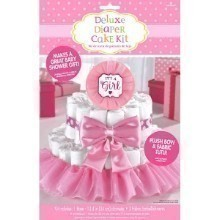 BABY SHOWER GIRL DIAPER CAKE KIT Thumbnail
