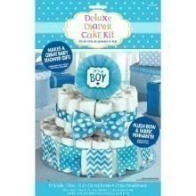 BABY SHOWER BOY DIAPER CAKE KIT Thumbnail