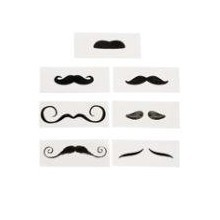 12CT LIFE-SIZE MUSTACHE TATTOOS Thumbnail
