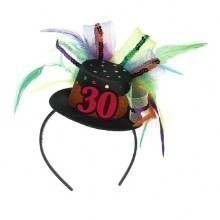 30TH BIRTHDAY FEATHER FASCINATOR  Thumbnail