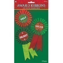 3PK UGLY SWEATER CONTEST AWARD RIBBONS Thumbnail