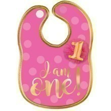 1ST BIRTHDAY GIRL FABRIC BIB Thumbnail