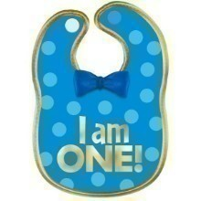 1ST BIRTHDAY BOY FABRIC BIB Thumbnail