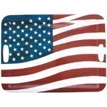 PATRIOTIC AMERICAN FLAG LARGE SERVING TRAY Thumbnail