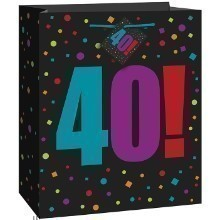 40th Birthday Cheer Large Gift Bag Thumbnail