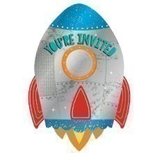 BLAST OFF BIRTHDAY INVITATIONS Thumbnail
