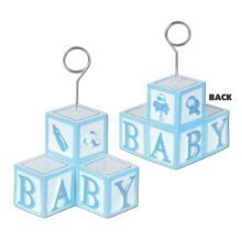 BLUE BABY BLOCKS PHOTO/BALLOON HOLDER Thumbnail