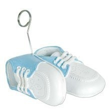 BLUE BABY SHOES PHOTO/BALLOON HOLDER Thumbnail