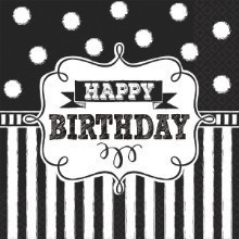 CHALKBOARD BIRTHDAY LUNCH NAPKINS - 16 COUNT Thumbnail