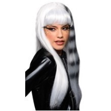 WHITE/BLACK KITTY CAT WIG Thumbnail