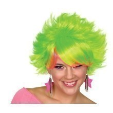 80'S POP WIG- LIME GREEN  Thumbnail
