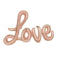 LOVE SCRIPT MYLAR BALLOON PHRASE-ROSE GOLD Thumbnail