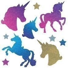 10CT UNICORN GLITTER CUTOUT ASSORTMENT Thumbnail