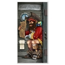 PIRATE CAPTAIN RESTROOM DOOR COVER Thumbnail