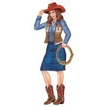 3' JOINTED COWGIRL CUTOUT Thumbnail