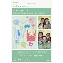 Baby Shower Photo Booth Props - 10 Count Thumbnail