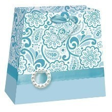 AQUA BLUE PURSE MEDIUM GIFT BAG Thumbnail