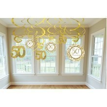 50TH ANNIVERSARY SWIRL DECORATION VALUE PACK Thumbnail