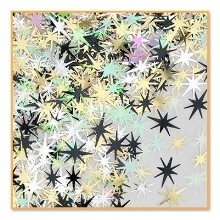 1/2 OZ GOLD STARBURSTS METALLIC CONFETTI Thumbnail