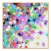 1/2 OZ MULTICOLOR STARBURST METALLIC CONFETTI Thumbnail
