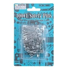 100CT SAFETY PINS IN STORAGE BOX Thumbnail