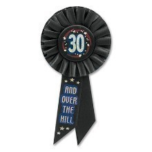 30 & OVER THE HILL RIBBON  Thumbnail