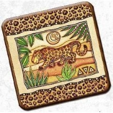 EXOTIC LEOPARD COASTERS Thumbnail